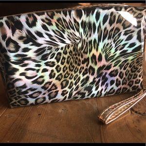 Handbags - Metallic Leopard Cosmetics Bag
